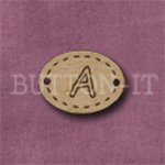 Oval Alphabet Button A