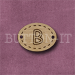 Oval Alphabet Button B