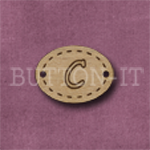 Oval Alphabet Button C