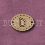 Oval Alphabet Button D