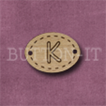 Oval Alphabet Button K