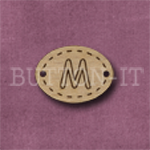 Oval Alphabet Button M