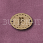 Oval Alphabet Button P