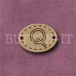 Oval Alphabet Button Q