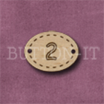 Oval Number Button 2