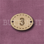 Oval Number Button 3