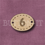 Oval Number Button 6