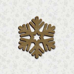Snowflake Laser Cut Mdf Shape