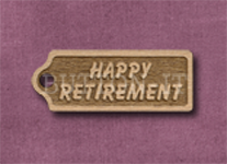T-HR Happy Retirement 39mm x 15mm