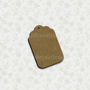 Tag Laser Cut Mdf Shape
