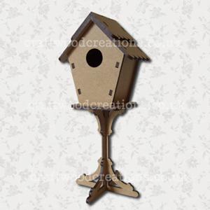 3D Bird House On A Stand