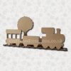 3D Craftwood Train Scene
