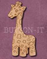 Laser Engraved Giraffe Craft Shape