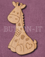Laser Engraved Giraffe Soft Toy Craft Shape
