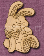 Laser Engraved Soft Rabbit Craft Shape