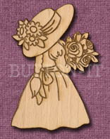 Laser Engraved Flower Girl Crfat Shape