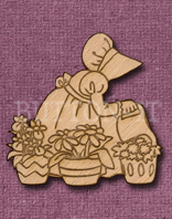 Laser Engraved Garden Girl Craft Shape
