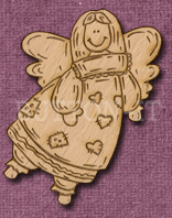 Laser Engraved Prim Angel Craft Shape