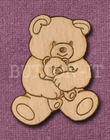 Laser Engraved Teddy Bear with Teddy Craft Shape