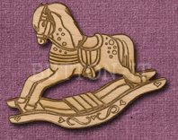 Laser Engraved Rocking Horse Craft Shape