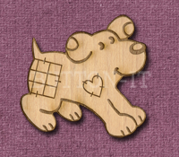 Laser Engraved Patch Dog Craft Shape