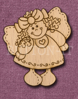 Laser Engraved Folk Angel Craft Shape