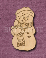 Laser Engraved Snowman Craft Shape
