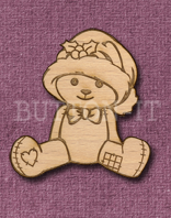 Laser Engraved Christmas Teddy Bear Craft Shape
