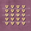 Mini Heart Shaped Buttons-Laser Cut from Solid Beechwood
