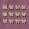 Midi Butterfly Shaped Buttons Laser Cut
