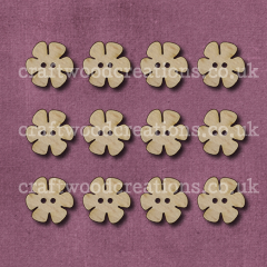 Midi Flower Shaped Buttons Laser Cut