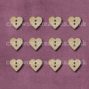 Midi Heart Shaped Buttons Laser Cut