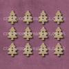 Midi Tree Shaped Buttons Laser Cut