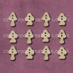 Midi Toadstool Shaped Buttons Laser Cut