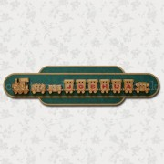 Name Train Sign Plaque Sample