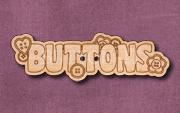 """1117 """"Buttons"""" Button 56mm x 17mm"""