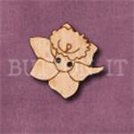 1119 Daffodil Button 23mm x 23mm