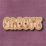 """1125 """"Groovy"""" Button 35mm x 12mm"""