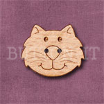 1106 Cat Head Button 24mm x 20mm