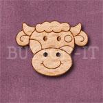 1109 Cow Head Button 28mm x 22mm