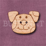 1107 Dog Head Button 27mm x 20mm