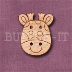 1114 Giraffe Head Button 20mm x 24mm