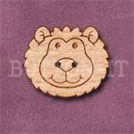 1113 Lion Head Button 26mm x 22mm