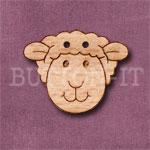 1111 Sheep Head Button 28mm x 23mm