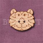 1115 Tiger Head Button 24mm x 20mm