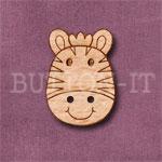 1112 Zebra Head Button 17mm x 24mm