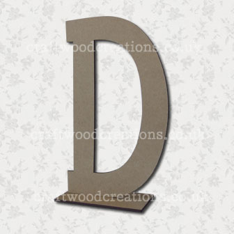 Free Standing Mdf Letters D