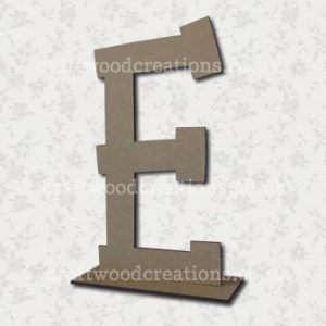 Free Standing Mdf Letters E