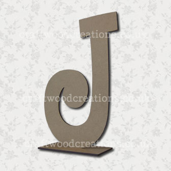 Free Standing Mdf Letters J