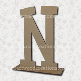 Free Standing Mdf Letters N